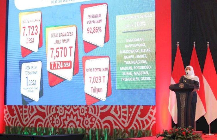 Serahkan DIPA-TKDD Tahun 2021, Gubernur Khofifah Minta Bupati Walikota Percepat Realisasi Anggaran Pengungkit Pemulihan Ekonomi