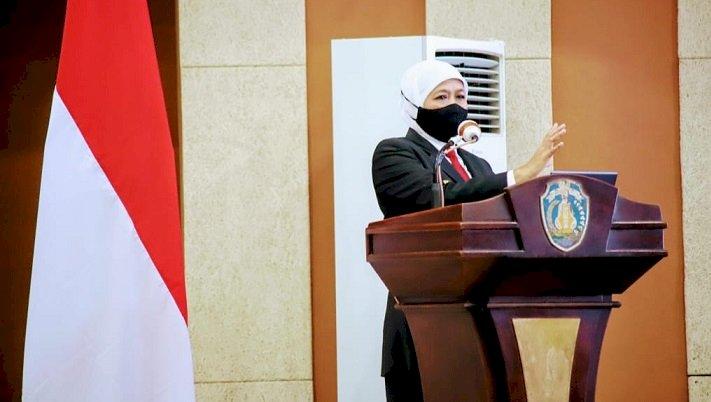 Mutasi Corona B117 UK Masuk Indonesia, Gubernur Khofifah Minta Tetap Tenang dan Disiplin Terapkan Prokes