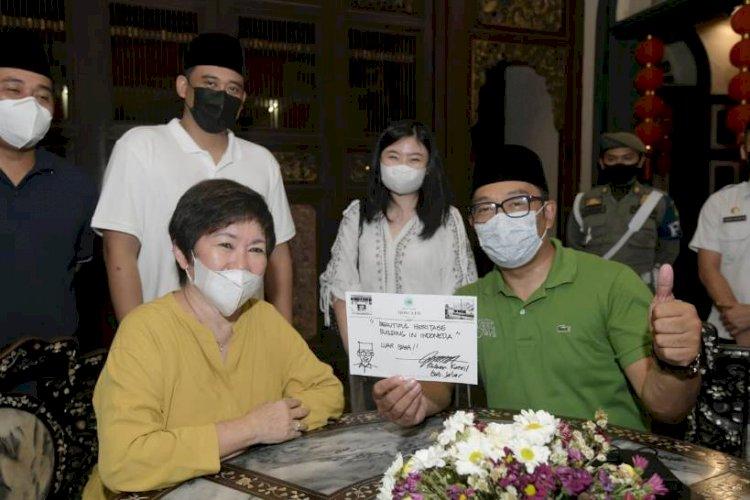 Ridwan Kamil dan Bobby Nasution Bertemu di Rumah Bersejarah Tokoh Tionghoa Medan