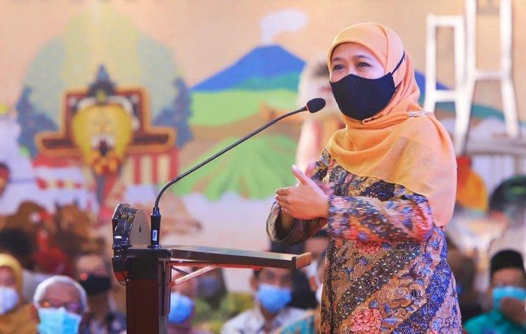Pesan Gubernur Khofifah untuk Pengusaha, THR Jangan Dicicil